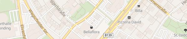 Karte Bellaflora Gartencenter Leonding