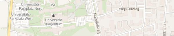 Karte Universität Klagenfurt