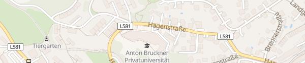 Karte Anton-Bruckner Privatuniversität Linz
