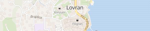 Karte Lovran Tourist Info Lovran
