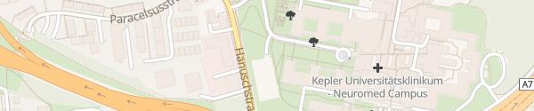 Karte Parkhaus Kepler Universitätsklinikum Linz