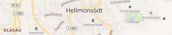 Karte Gemeinde Hellmonsödt