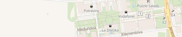 Karte Kuchařova Praha-Stodůlky