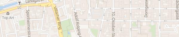 Karte Ladesäule Benediktinermarkt Klagenfurt am Wörthersee