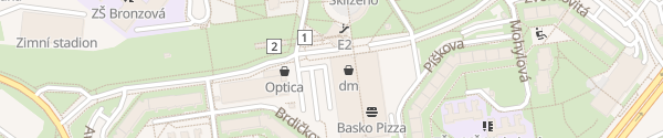 Karte OC Lužiny Praha