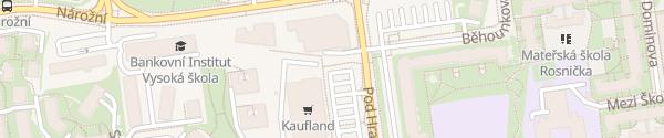 Karte Kaufland Praha-Stodůlky