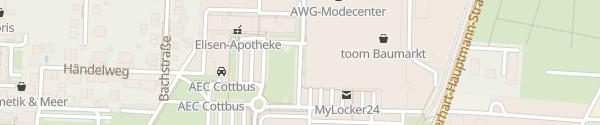 Karte TKC Einkaufszentrum Cottbus