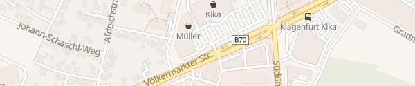 Karte kika Klagenfurt