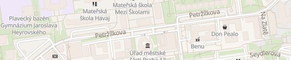 Karte Úřad městské části Praha 13 Praha