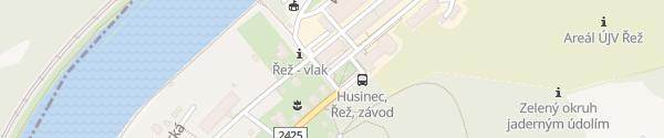 Karte ÚJV ŘEŽ Husinec u Řeže