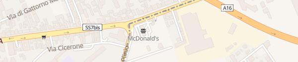 Karte McDonald's Pomigliano d'Arco