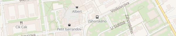 Karte Trafostanice 5508 Praha-Barrandov