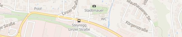 Karte beim Kindergarten Steyregg
