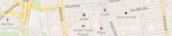 Karte Andels Hotel Prag