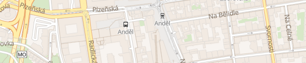 Karte OC Zlatý Anděl Praha