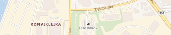 Karte Esso Rønvik Bodø