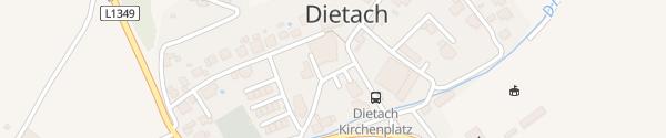 Karte Kirchenplatz Dietach