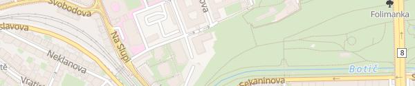 Karte ČVUT Fakulta dopravní Praha