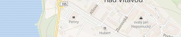 Karte Centrální parkoviště Hluboká nad Vltavou