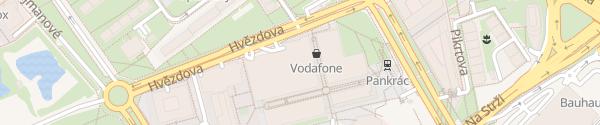 Karte CEZ Ladesäule Praha