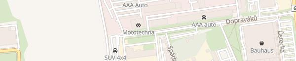 Karte AAA Auto Praha