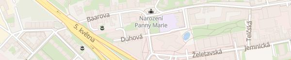 Karte Centrála ČEZ Prag