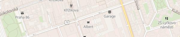 Karte 3D Apartment Karlín Praha 8 - Karlín
