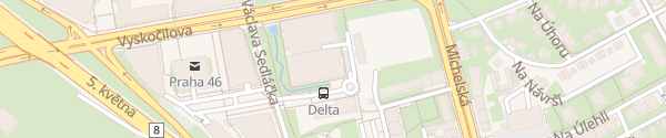 Karte BB centrum Delta Praha