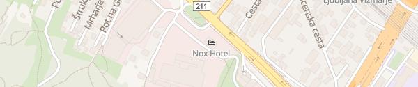 Karte Hotel Nox Ljubljana