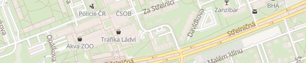 Karte Trafostanice 3298 Binarova Praha
