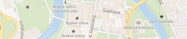 Karte Parkovací dům City Green Park České Budějovice