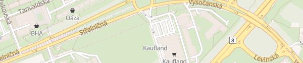Karte Kaufland Kobylisy Praha-Libeň
