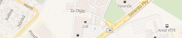 Karte Retail park Okružní České Budějovice