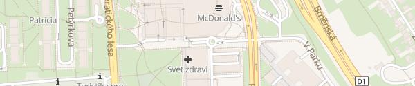 Karte Chodov Shopping-Center Blauer Parkbereich Praha
