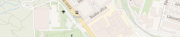 Karte Ruska ulica Ljubljana