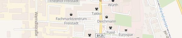 Karte Fachmarktzentrum Freistadt