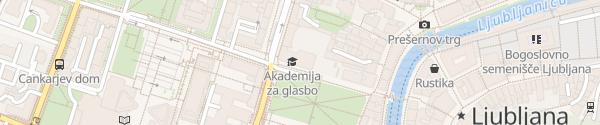Karte Parkhaus Kongress Ljubljana