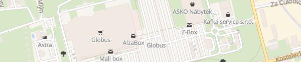 Karte Globus Praha Čakovice