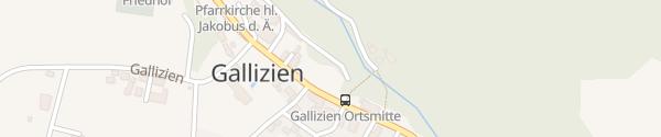 Karte Parkplatz Ortsmitte Gallizien