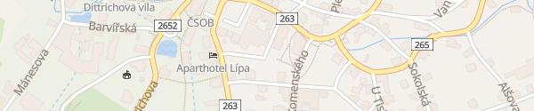Karte Parkoviště Krásná Lípa