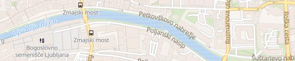 Karte Poljanski nasip Ljubljana