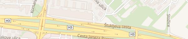 Karte Parkhaus Dunajski Kristali Ljubljana