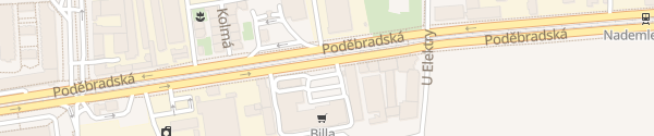 Karte Poděbradská Praha