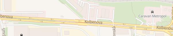 Karte Kia Motors Autobond Praha 9 - Vysočany