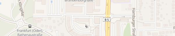 Karte Sportzentrum & Olympiastützpunkt Frankfurt (Oder)