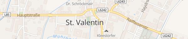 Karte Raiffeisenbank Sankt Valentin