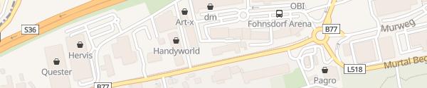 Karte Arena Einkaufszentrum Fohnsdorf