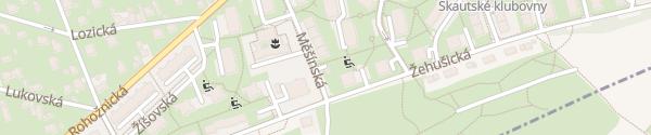 Karte Trafostanice 4823 Měšínská Praha