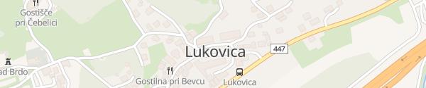 Karte Alter Ortskern Lukovica pri Domžalah