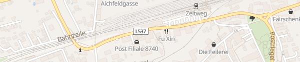 Karte Bahnhof Zeltweg